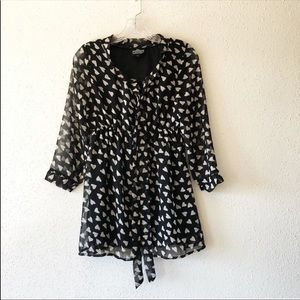 3 for 20 Angie Heart Patterned Mini Dress Small